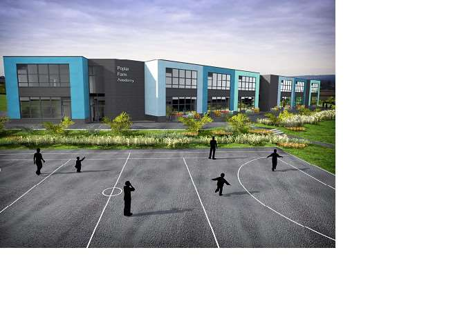 The proposed new school at Poplar Farm.