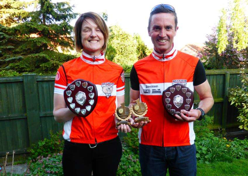 Club champions Claire Armstrong and Mick Oliver.