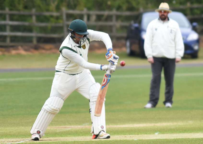Centurion: Dan Freeman on his way to an unbeaten 104. Photo: Toby Roberts