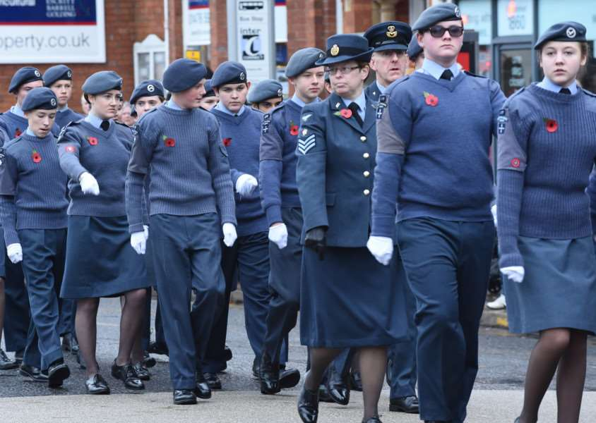 Remembrance Day Parade through Grantham on Sunday, November 8, 2015.