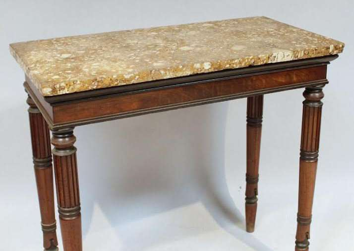 A side table belonging to the late Thomas Keen, of Bottesford, will go to auction. Photo: Golding Young & Mawer
