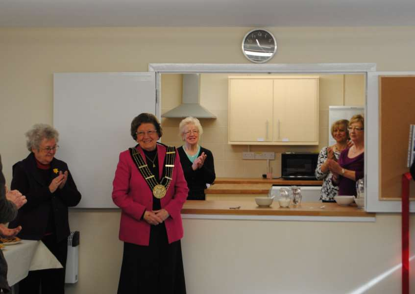 Mayor Jacky Smith cut the ribbon to officially open the new centre.