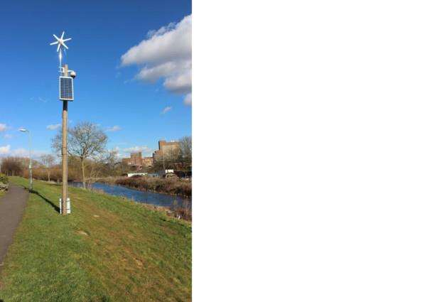 Grantham Clean and Green: CCTV installed alongside Grantham Canal.