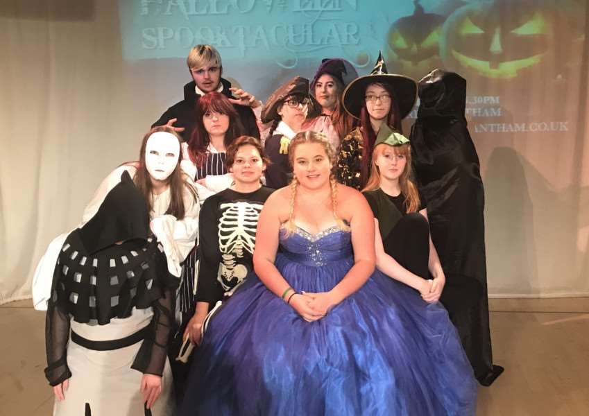 Grantham College and Harlaxton College students prepare for Halloween weekend at Wyndham Park, Grantham.