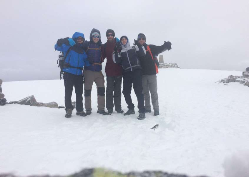 Five friends tackle the Three Peaks Challenge in memory of their friend Martin Burton.