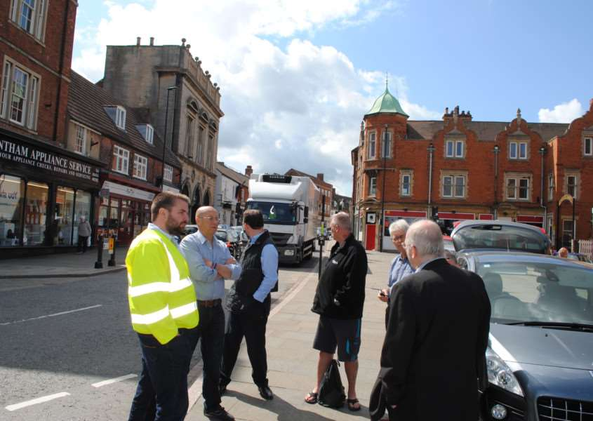 Site meeting to discuss parking issues in Westgate, Grantham.