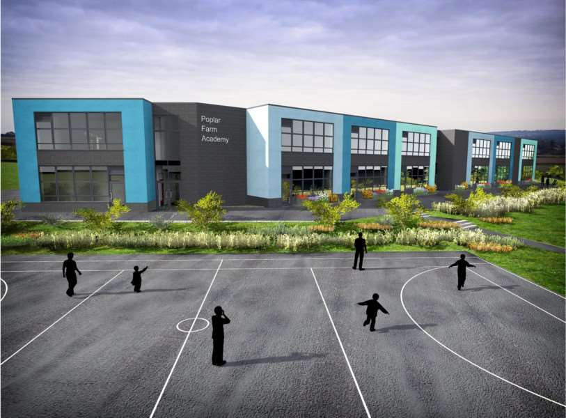 A new free school has been given the go ahead for Poplar Farm in Grantham. Drawing: Craig Duncan