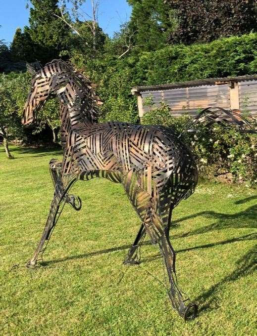 The metal sculpture horse was reported stolen on October 10 (42647790)