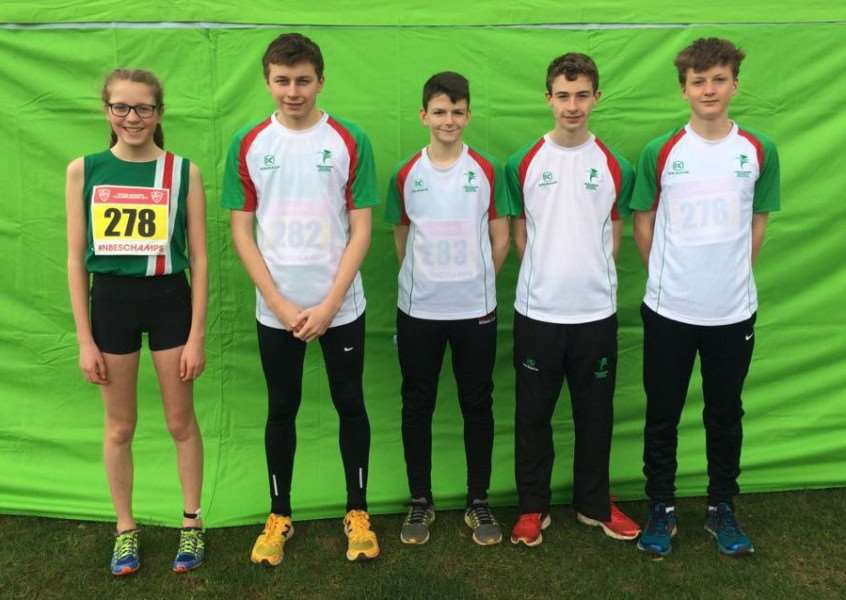 Pictured from left are - Isabel Hobday, Will Tucker, George Hatton, Aaron Hunt and Gareth Lee.