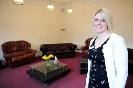 Centre manager Nicci Whittaker in the new lounge area.