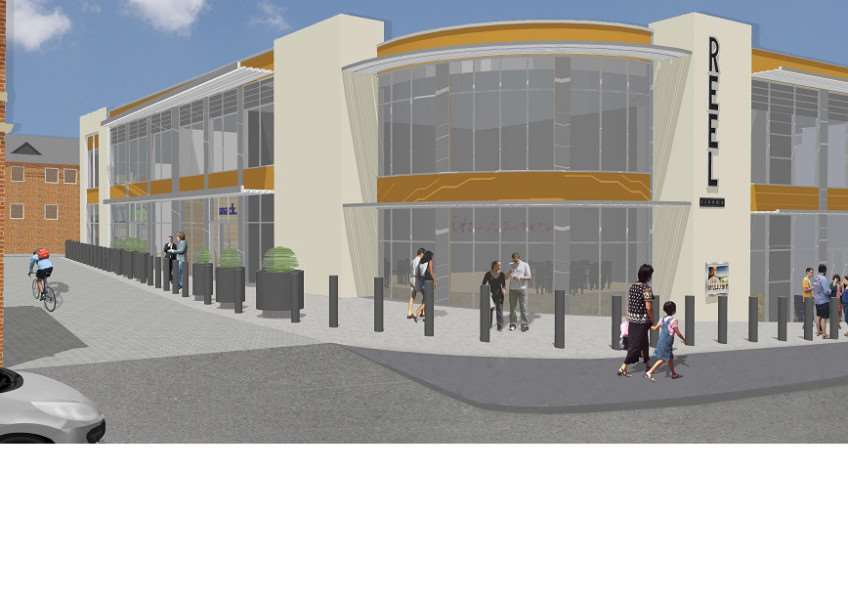 Artist's impression released in 2014, of a Reel-operated cinema complex.