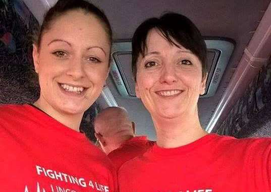 Melissa Darcey and Sarah Stock of Fighting 4 Life Lincolnshire