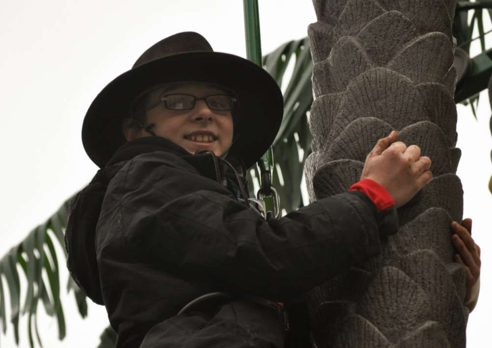 Jacob Wand at scouts winter camp in Gilwell park, Chingford.