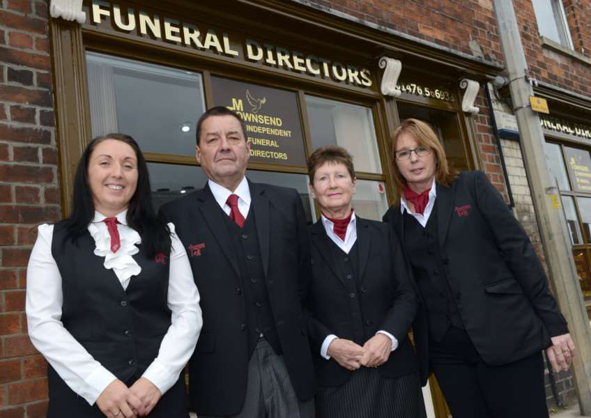 Pictured, from left, are April Abbott, Chris Townsend, Dorothy Townsend and Lucy Turner.