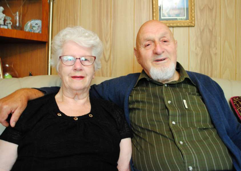 Winnie and Dave Blankley celebrate their diamond wedding anniversary.