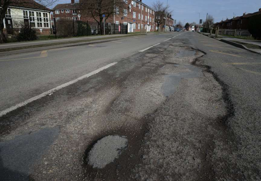 New Beacon Road has been blighted with potholes for years.