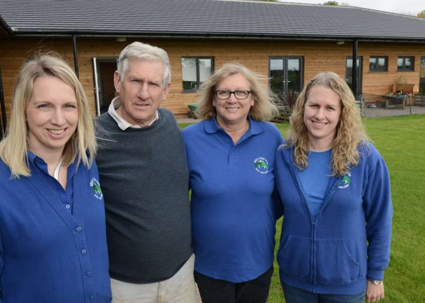 Pictured, from left, are - Charlotte Spence, Brian Spence, Kathryn Spence and Kate Robinson.