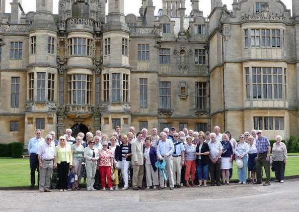 Highlight: The group visited Harlaxton Manor as part of their five-day visit last week.
