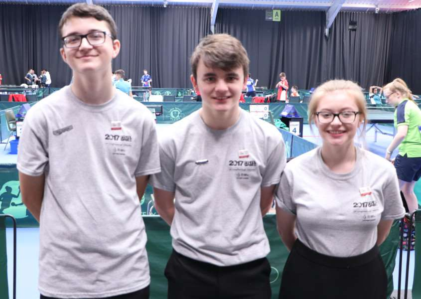 Cliffedale Chandlers young umpires, from left - Ben Johnson, Benjamin Rigby and Alexandra Robinson.