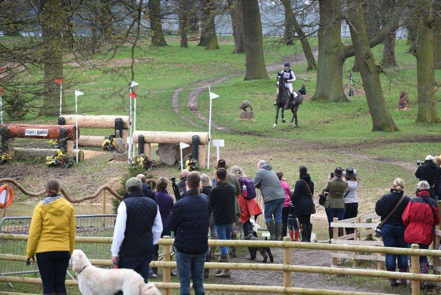 Sam Ackroyd approaches a fence at Belton Horse Trials.