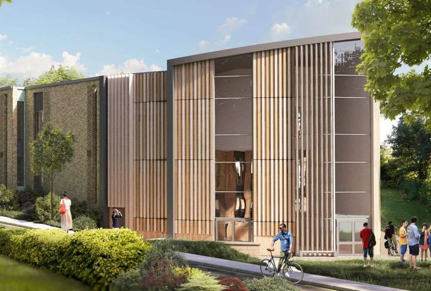 Artists' impression of the new building, courtesy of RG+P Ltd.