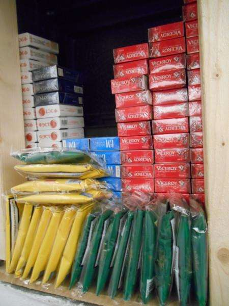 Illegal cigarettes found in a shop in Grantham.