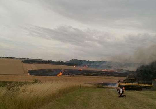 Reader Hannah Greetham sent us these photo of the fire