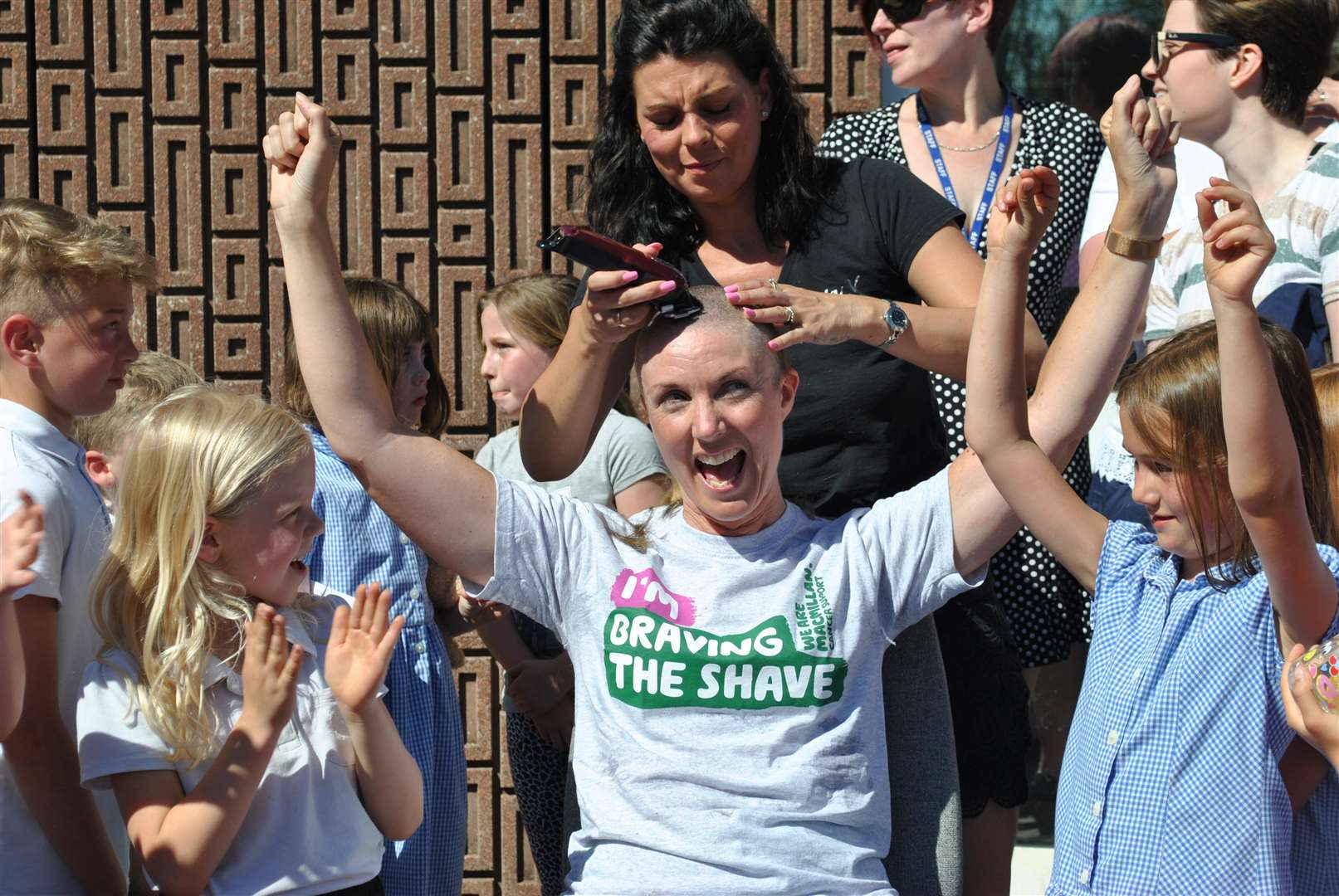 Bottesford Primary School teachers Louisa Lonsdale and Rachel Beveridge took part in Brave the Shave. (2845249)