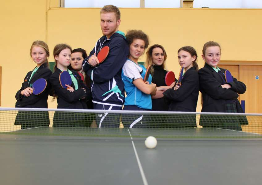 Table tennis star Gavin Evans is the new coach at Walton Girls' school.