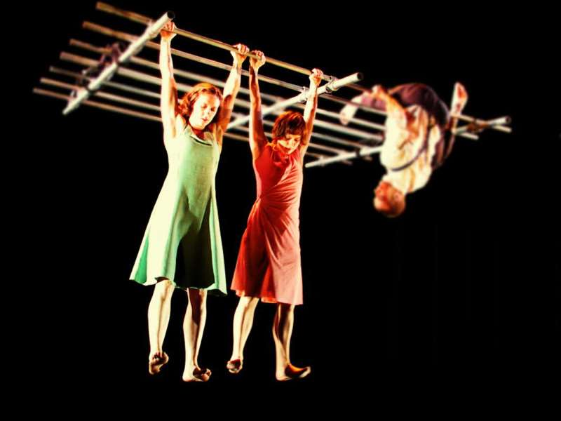 Ockham's Razor aerial theatre in action. Image by Nik Mackey.