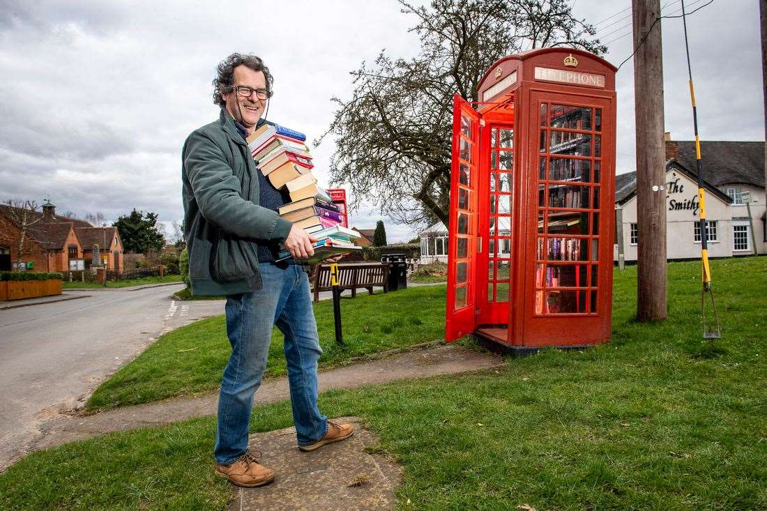 A book exchange is another popular re-use for old phone boxes (45153471)