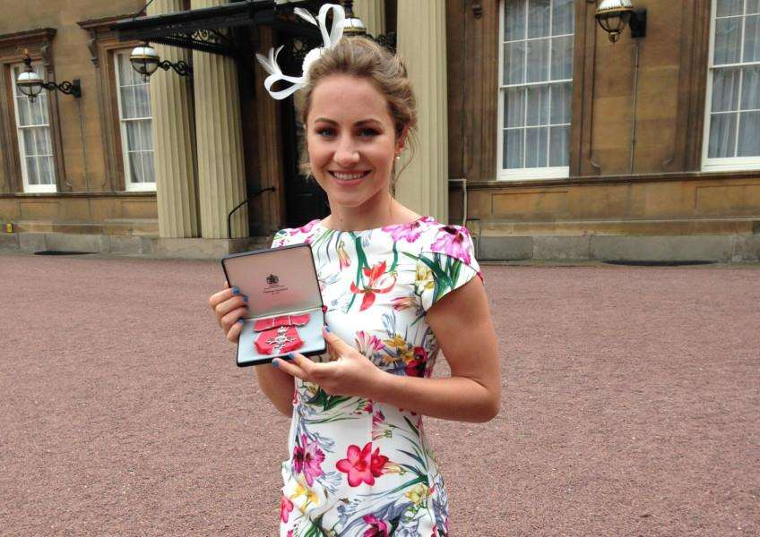 Shona McCallin and her MBE.