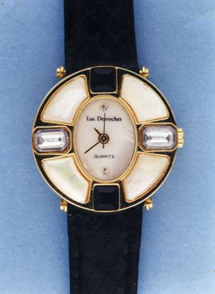 A Luc Desroches watch, like this one, belonged to Julie Pacey but was missing from her home.