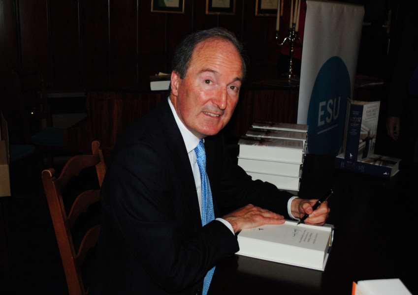 Authorised Thatcher biographer Charles Moore signs copies of the second volume.