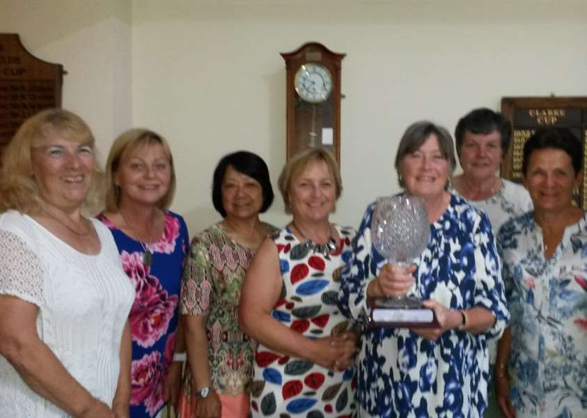 Belton Woods ladies' team with the Inter Club Trophy.