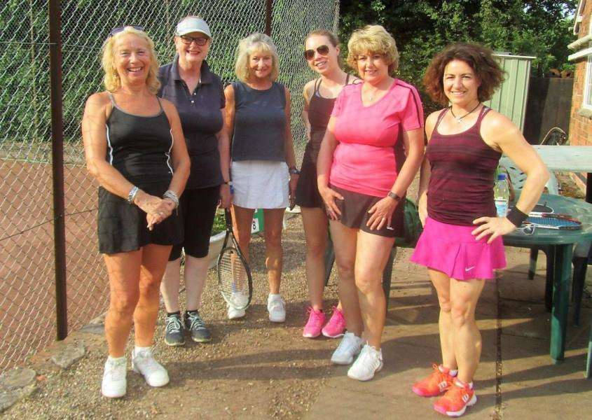 Belvoir Vale Tennis Club ladies' first team.