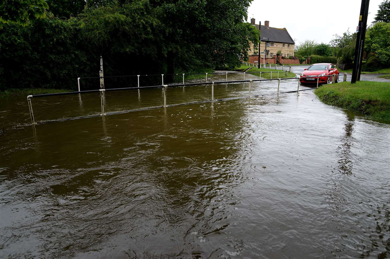 Drivers were faced with flooded roads in Bottesford. (12284794)