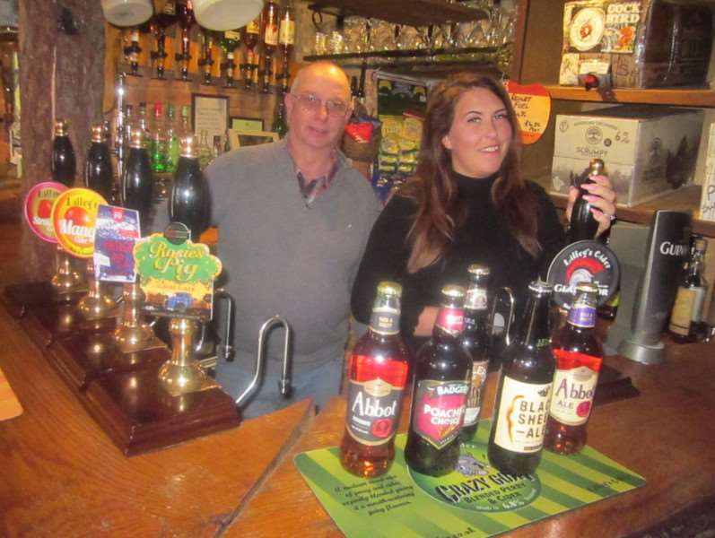 Cider bar owner David Goodwin and manager Emma Moulsher.