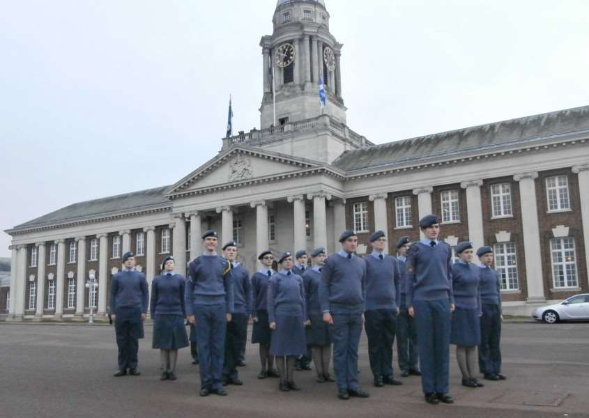 Cadets from 47F Grantham Squadron at RAF Cranwell. ENGEMN00120130214100021