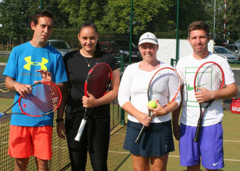 Mixed Doubles winners Lianne Tapson and Richard Surtees (right) defeated Richard Cragg and Megan Jones in the final.