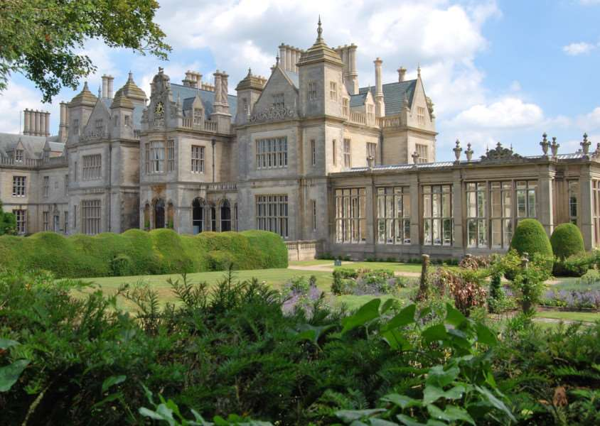 The historic Stoke Rochford Hall Hotel.