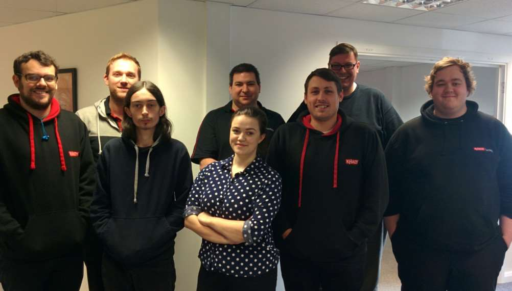 Software company Khaos Control Solutions held a gaming marathon to raise money for Direct Relief. Pictured from left are David Blackbourn, Jason Harrison, Matt Hadden, Georgia Day, Mark McCormack, Lloyd Dew, Andy Richley and David Jones.