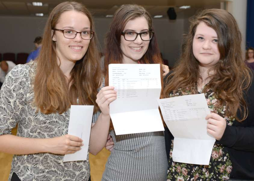 A levels, Priory Ruskin Academy: Hannah Stephens, Andrea Smith and Charlie Wilson
