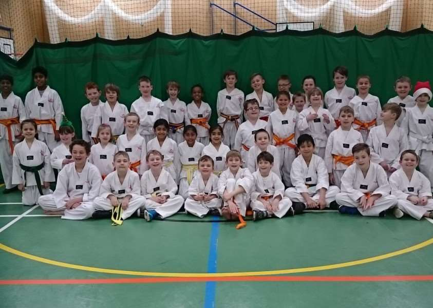 Grantham and Corby Glen Tae Kwon-Do Club members.