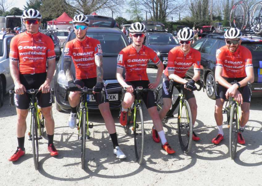 The Giant Rutland Wattbike Team at the Tour of the Wolds.