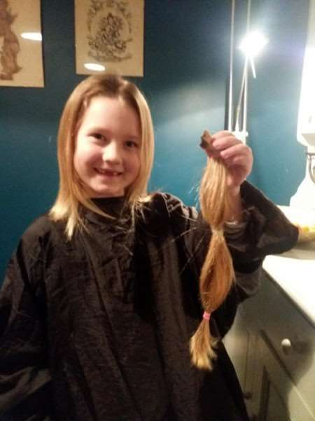 Milla Ball had 30cm off her hair chopped off.