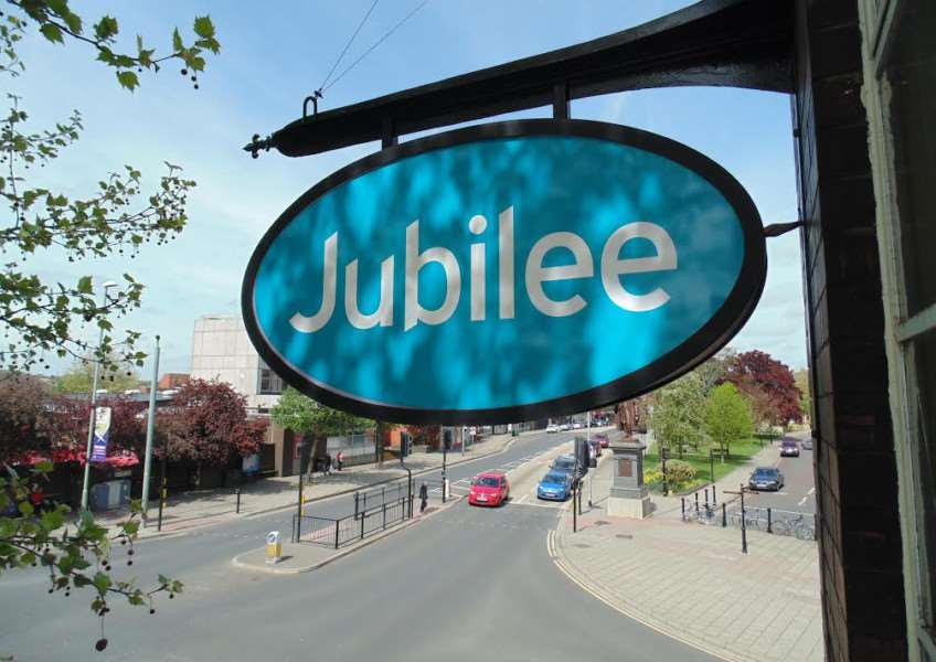 New 'Jubilee' sign replaces 'China 88'.