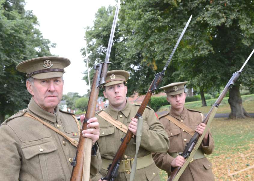 Living History at Wyndham Park, Grantham: Pictured are: Malc Cooper, Adam Woodland and Andy Muggleton