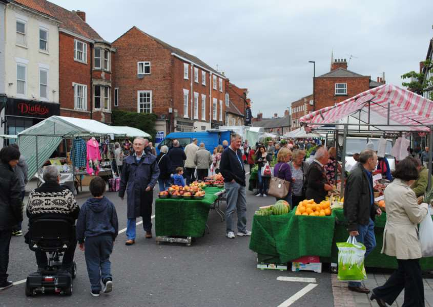 Grantham Market has been undergoing a trial in Westgate.