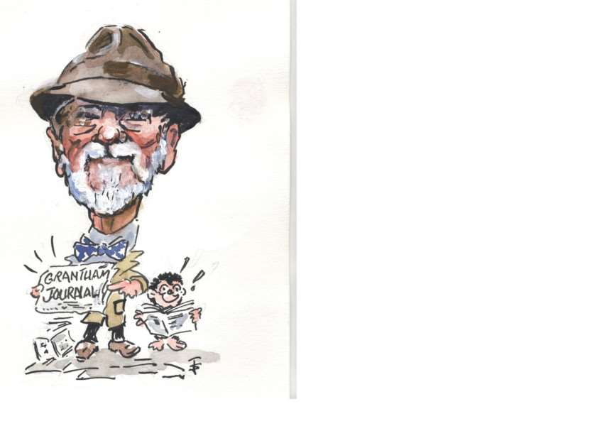 Terry Shelbourne created this fabulous caricature of himself.